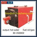 850KW caldera de tubo horizontal de fuego de gas natural