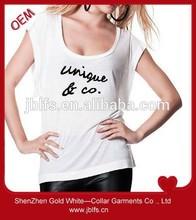 free printing women's cotton T shirt