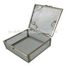 Plain Clear Glass Jewelry Box
