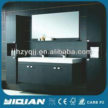 2012 Hot Sell Modern Wall Hang MDF Double Bathroom Vanity