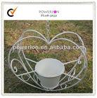 Love design unique Chinese cheap handmade craft antique white metal hanging garden pots
