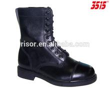 สีดำหนังบนยางแต่เพียงผู้เดียวantislipตำรวจบูตกองทัพ, รองเท้าต่อสู้
