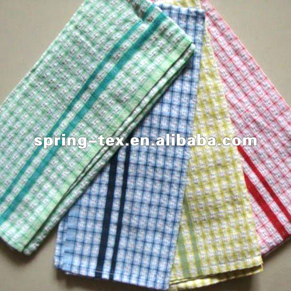 Cotton Yarn-dyed Tea Towels with checked design