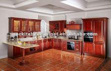 Best Modern design Red Solid Wood kitchen cabinet
