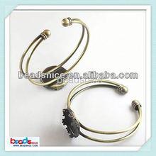 Beadsnice ID 23458 Brass Bracelet base fit 20mm cabochons accessory wholesale bezel bracelet blanks