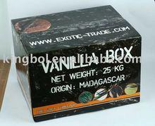 Vanilla packing Carton 5 layer B+C flute corrugated carton box with 4C printing and Glossy laminated