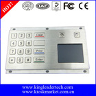 16 flat keys metal numeric keypad with touchpad in USB connection