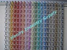 fashionable design colorful aluminum chain combined window screen
