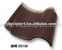 Shingle Clay Roof Tiles in Glazed Surface