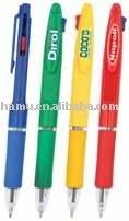 colorful plastic 2 color multi ballpen
