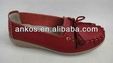 Lady's flats soft outsole women's shoes massage bottom loafers flat heel shallow nurse shoes