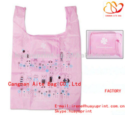 Foldable Polyester Shopping Bag & fold up polyester bag