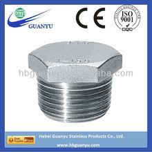 stainless steel pipe fittings hex head plug