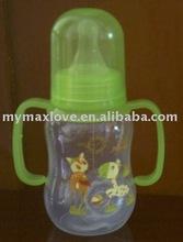 baby PP milk water feeding bottle BPA-free/silicone nipple handle 4OZ