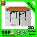 Dobrável de madeira redonda mesa hotel ct-8021