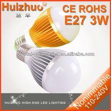 220v , 110v E27 3W global led bulb lamp