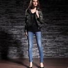 wholesale slim fit cheap short blue pantalones pencil cut Jeans