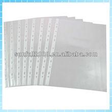 pp sheet protector /clear pocket/punch pocket