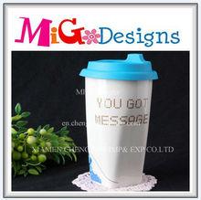 New Design Wholesale White and Blue Mug Ceramic