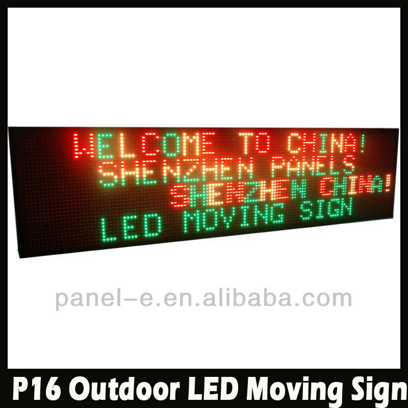 Shenzhen fabrika p16- 32128- 2r1g p16 suya dayanıklı dış mekan reklam led ekran