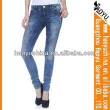 Latest design fashion women skinny true jeans (HYW164)