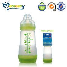 Environment Friendly BPA Free 9oz Wide-neck PP New Baby Feeding Bottle