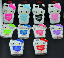 OEM Silicone Mobile Phone Bag with Hello Kitty Design