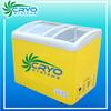 200l soft taylor serve ice cream sliding lid bunker display refrigerator equipment curved glass freezer