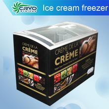 sliding glass door chest freezer refrigerated ice cream showcase
