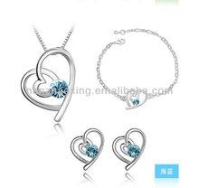 OUXI 2015 Cheap Women Jewelry Set made with Swarovski Elements S-3004