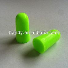 Fluorescent color,bullet shape,noise reduction,CE certificated, 33dB, PU foam earplug