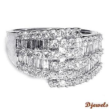 14 K White Gold Diamond Rings, Wedding Rings, Diamond jewelry