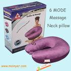 Vibrating massage neck pillow travel airplane printing cushion