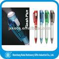 nuevo diseño de la luz led bolígrafo novela única plana la luz hasta la pluma de bola