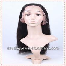 16'' #1B Yaki peruvian virgin hair full lace wig