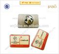 personalizado prata epóxi etiqueta do clube de futebol emblema do pino