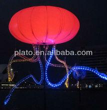 2014 new design inflatable illuminated led balloon for branding, promotion