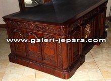 Wooden Antique Furniture - Office President Desk - Partner Table Furniture Manufacturer