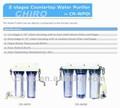 Hogar encimera de 3 etapas purificador de agua / filtro / de tratamiento de agua