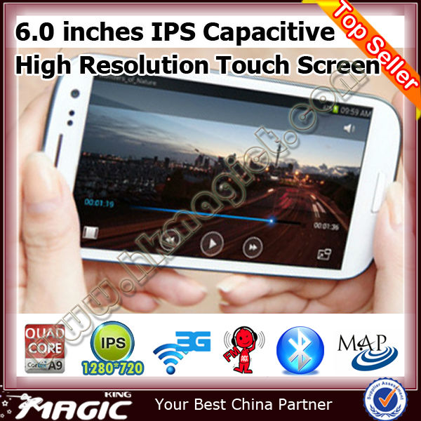 "New android 4.2 MTK6589 6"" wifi china phone 3g mobile"