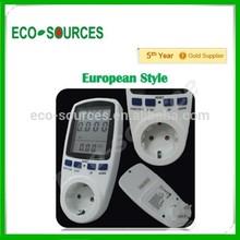 EU style home digital watt meter lcd high quality