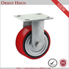 Red PU Cast Iron Industrial 4 Inch Heavy Duty Caster Wheels