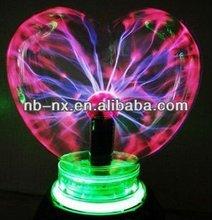 Sweet music, and festive atmosphere 6 inch heart shape plasma ball lamp