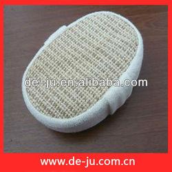 Wholesale Microfiber And Hemp Materials Oval Bath Sponge Massage