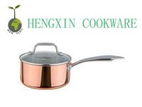 eco friendly copper triply cookware sauce pan