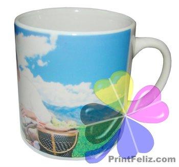 PrintFeliz 6oz Sublimation White Mug (Caneca branca de ceramica resinada)
