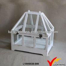 Build main blanc Shabby Chic bois couverte jardin verre à effet de serre