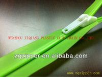 PE/PP Plastic waterproof zipper and slider for bag