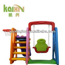 indoor child plastic swing and slide set