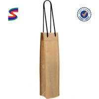 Jute Wine Tote Bag Neoprene Wine Cooler Bag